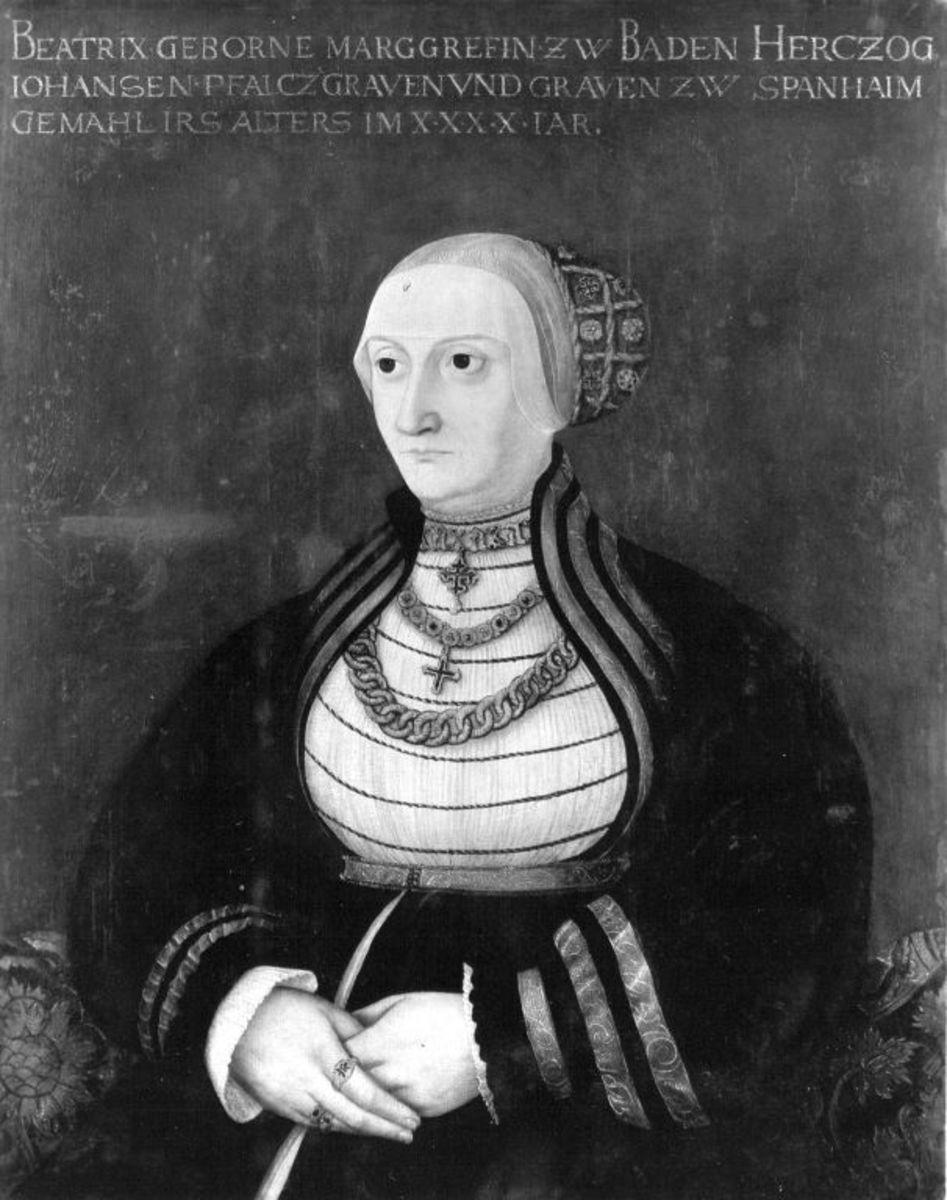 Beatrix Markgräfin von Baden, Gemahlin des Pfalzgrafen Johann II. von Sponheim