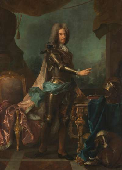 Kurfürst Max Emanuel von Bayern (1662-1726) in voller Rüstung