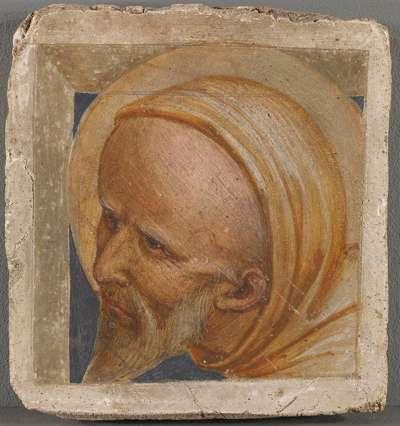 Kopf eines hl. Mönchs