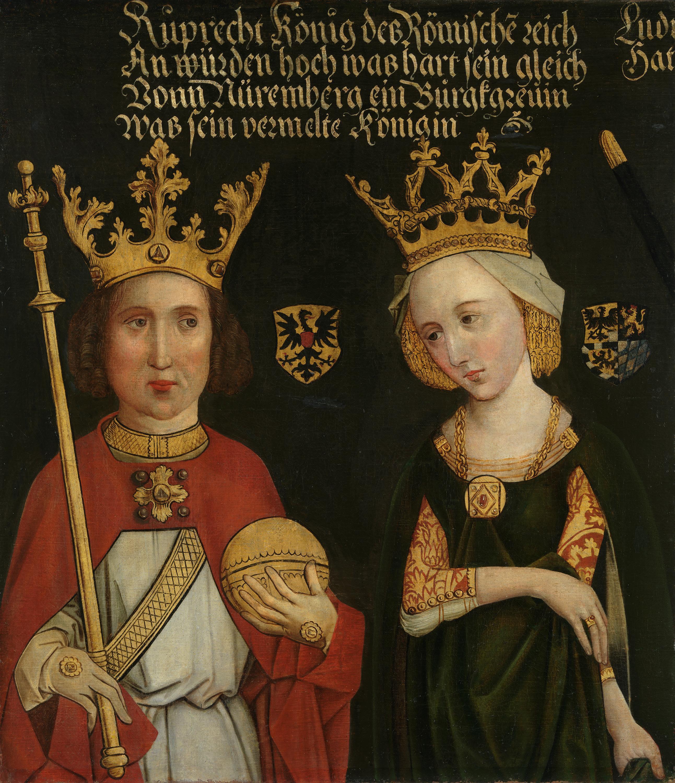 Bildnis des Herzogs Rupprecht III. von Bayern mit Gemahlin Elisabeth