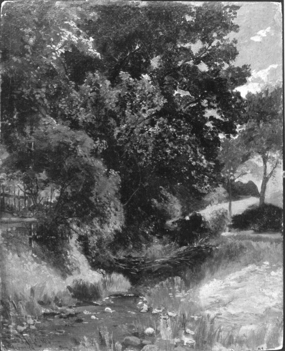 Baumgruppe am Bach