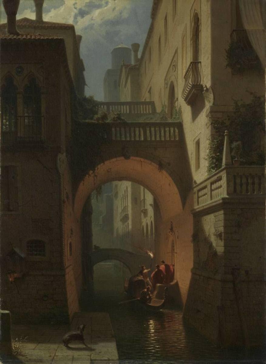 Der Palazzo Vendramin in Venedig bei Nacht