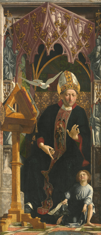 Kirchenväteraltar: Hl. Augustinus