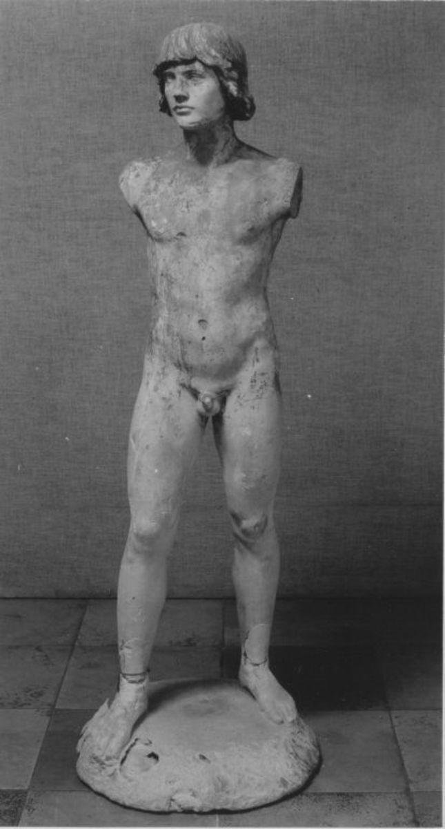 Modell eines stehenden Jünglings für den Siegfried-Brunnen in Worms