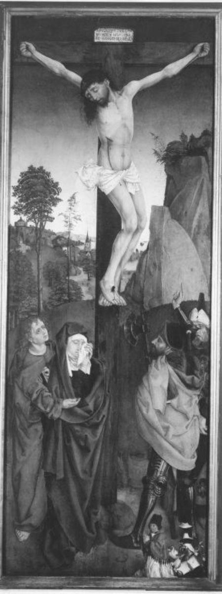 Christus am Kreuz (sogenannte Stibarsche Kreuzigung) (Rückseite: Hl. Theodota von Nicaea)