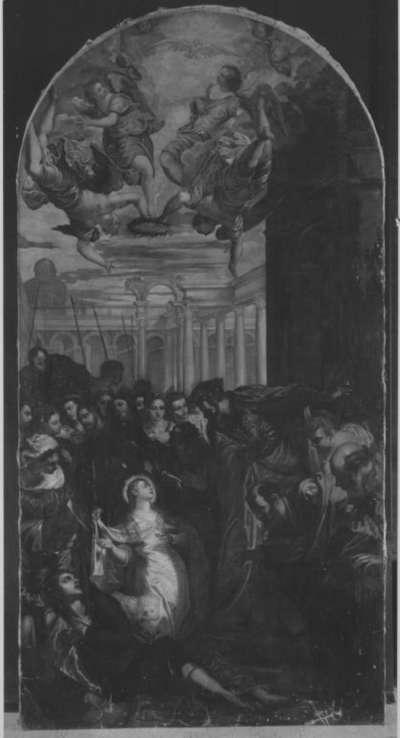 Die hl. Agnes erweckt den Sohn des Präfekten zum Leben (nach Tintoretto)