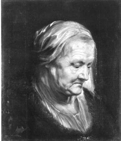 Kopfstudie einer alten Frau