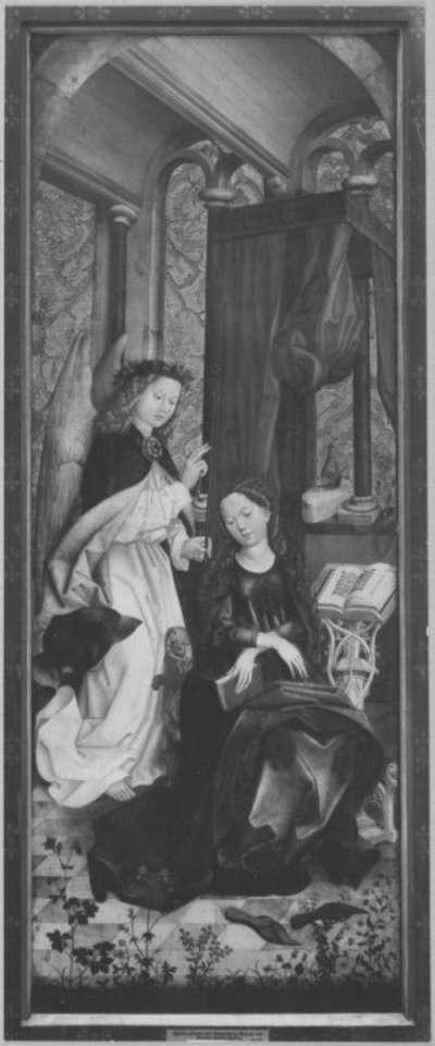 Liebfrauenaltar: Verkündigung an Maria (Rückseite: Geißelung Christi)