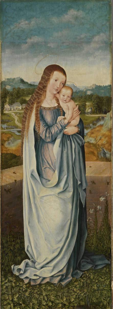 """Universitätsaltar"": Maria mit dem Kind Rückseite: Hl. Christophorus"
