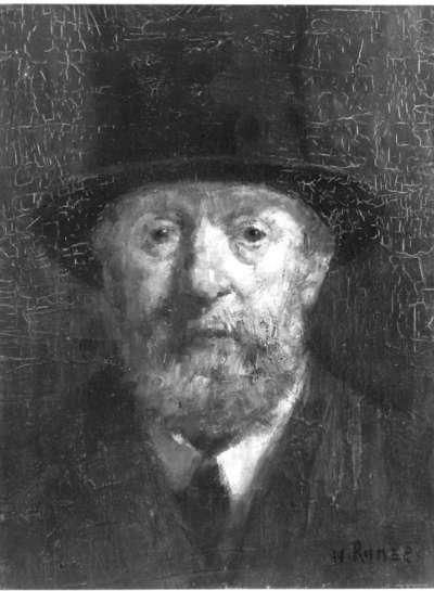 Mann mit Zylinderhut (Männerkopf)