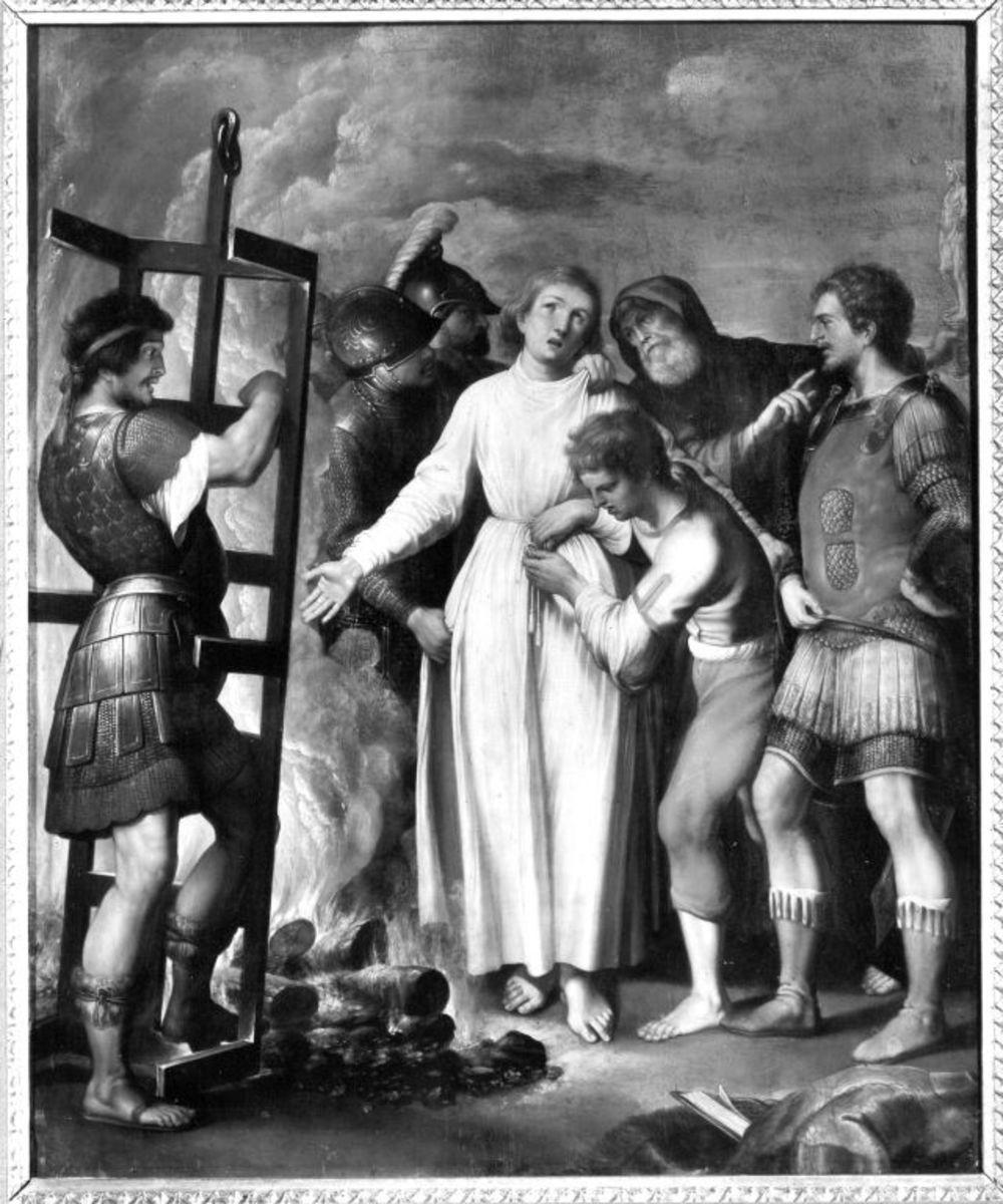 Hl. Laurentius, Rückseite: Teil eines hl. Christophorus