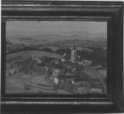 Blick auf Dorf