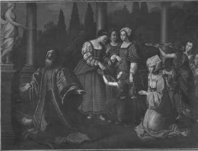 Salomon opfert den Götzen