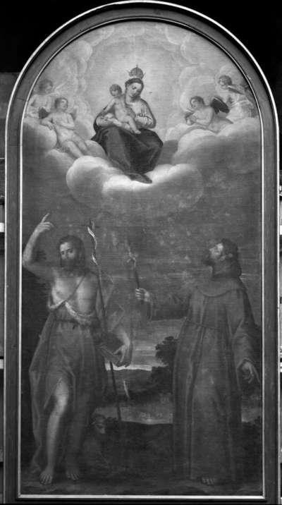 Maria erscheint den hll. Johannes der Täufer und Franziskus von Assisi