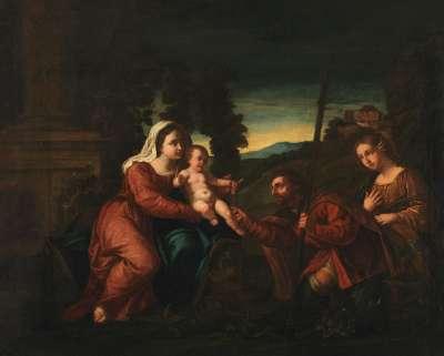 Maria mit Kind und den hll. Rochus und Maria Magdalena