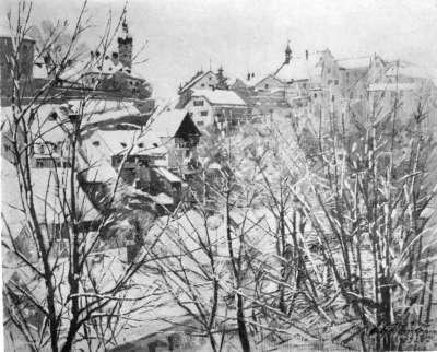 Schneelandschaft (Dachau)