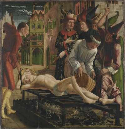 Laurentius-Altar: Martyrium des hl. Laurentius