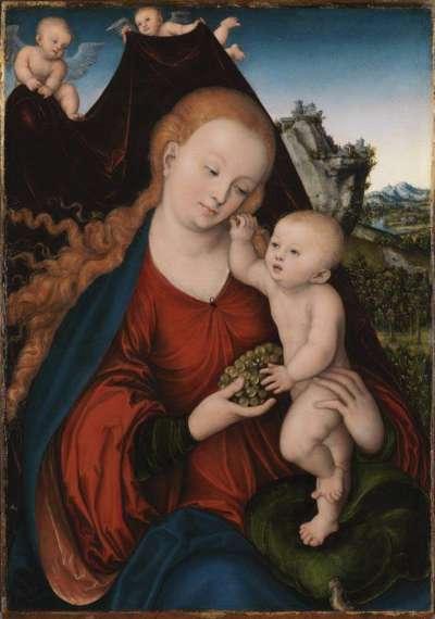 Maria mit dem Kind und der Weintraube