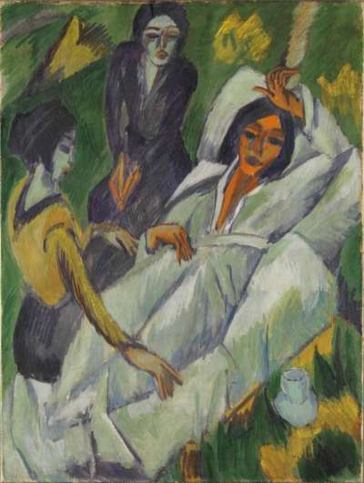 Frauen beim Tee (Die Kranke)
