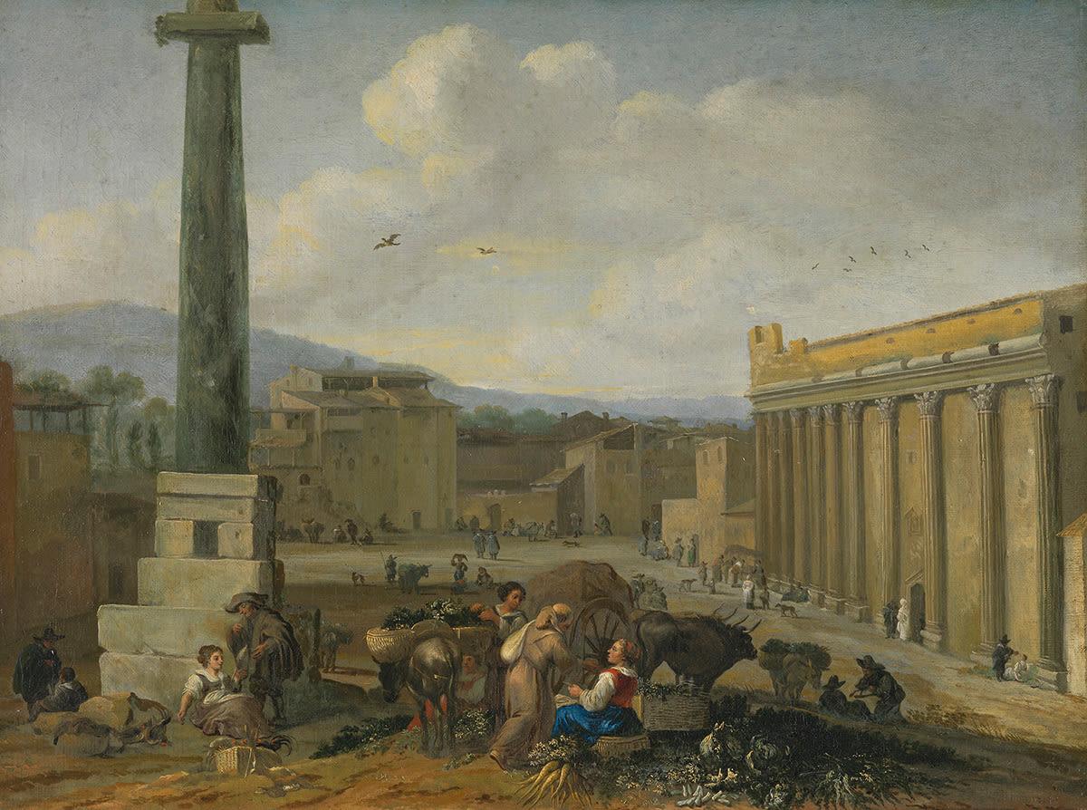 Römische Marktszene