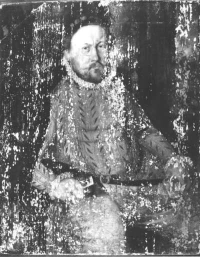 Bildnis eines Fürsten Rückseite: Posaunenblasender Engel