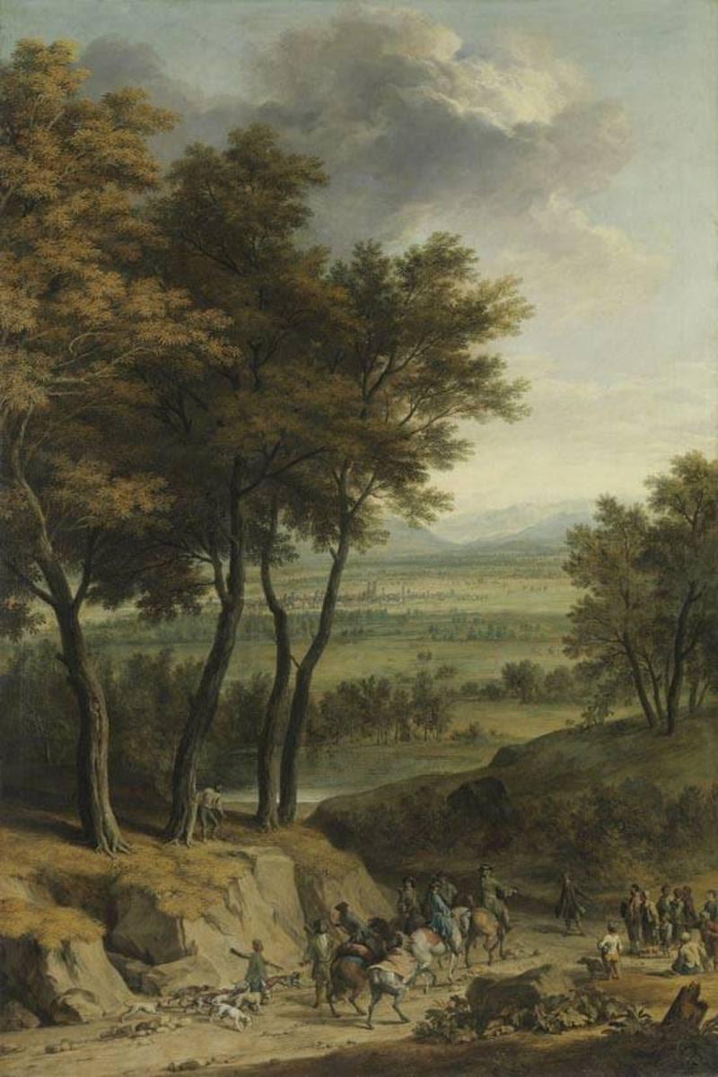 Landschaft mit Ansicht von München