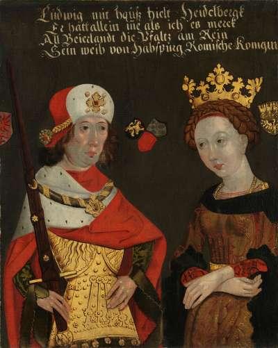 Bildnis des Herzogs Ludwig II. des Strengen mit seiner Gemahlin Mechthild