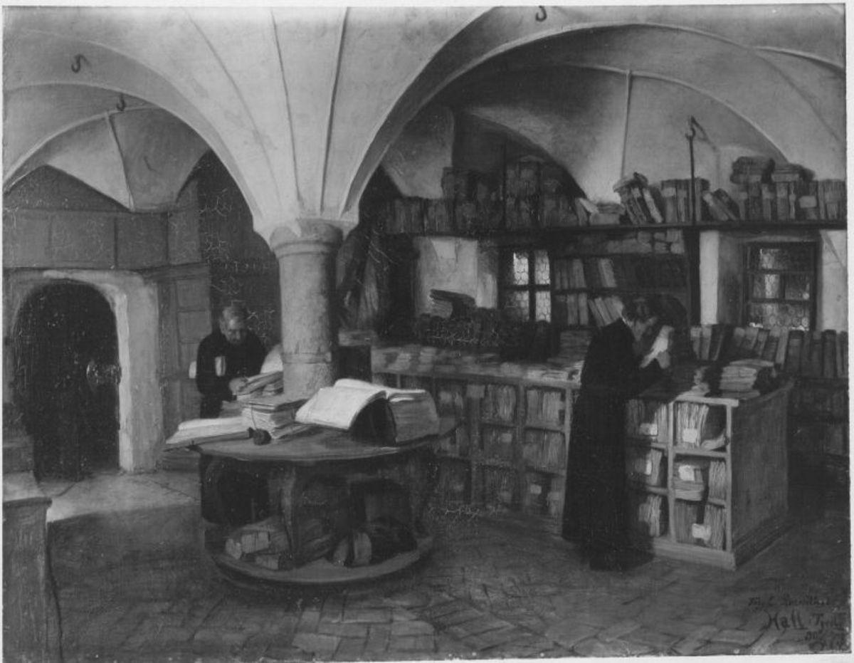Bibliothek in Hall