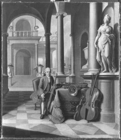 Hofmusikus Felix Reiner mit Fagott