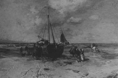 Holländisches Strandbild