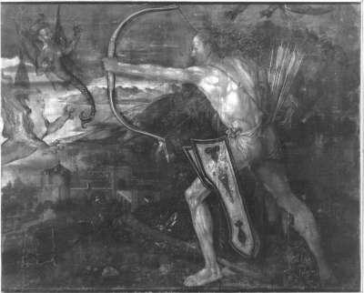 Herkules im Kampf mit den Harpyen