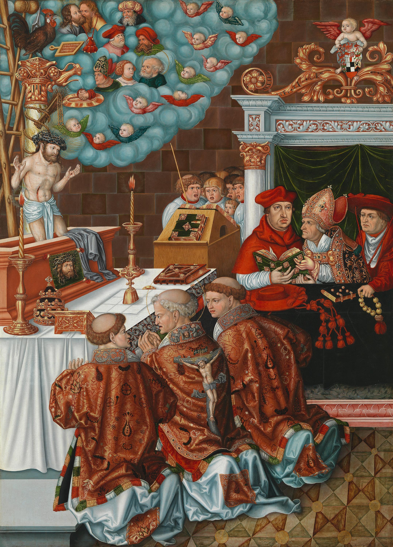 Messe des hl. Gregor mit Kardinal Albrecht von Brandenburg