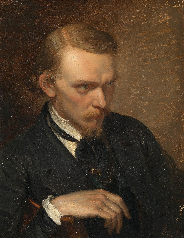Porträt des Malers und Galeriedirektors Anton Teichlein