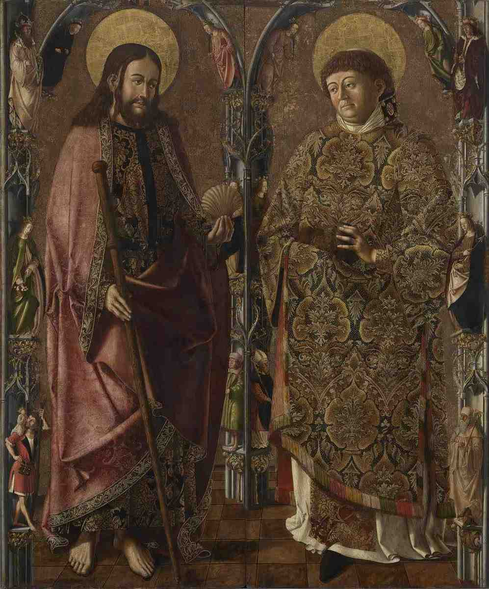 Jakobus-Stephanus-Altar: Die hll. Jakobus und Stephanus