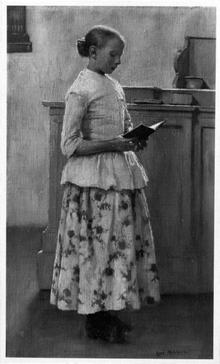 Lesendes Mädchen (Mädchen in der Kirche)