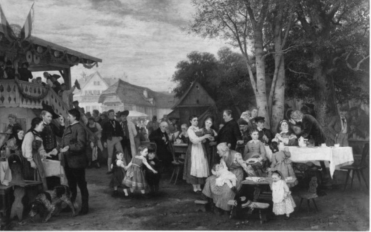 Ländliches Fest in Schwaben