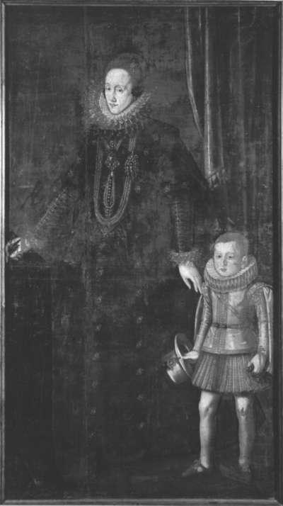 Bildnis der Magdalena von Bayern, Pfalzgräfin von Neuburg, mit dem Erbprinzen Philipp Wilhelm
