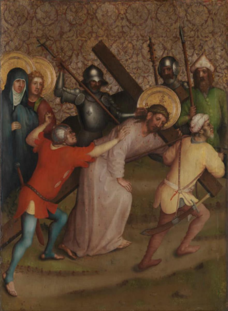 Heisterbacher Altar: Kreuztragung Christi
