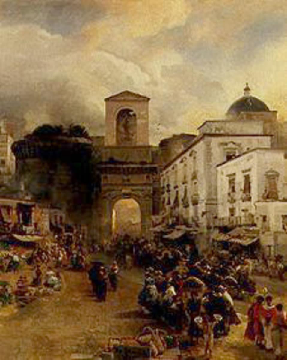 Vor der Porta Capuana in Neapel