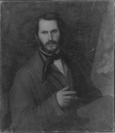 Bildnis eines Mannes an der Staffelei