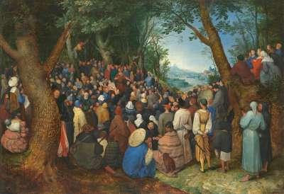 Die Predigt Johannes des Täufers (nach Pieter Bruegel d. Ä.)