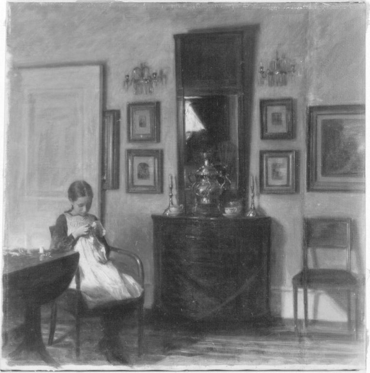 Interieur mit Mädchen