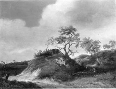 Landschaft mit Bauernhaus