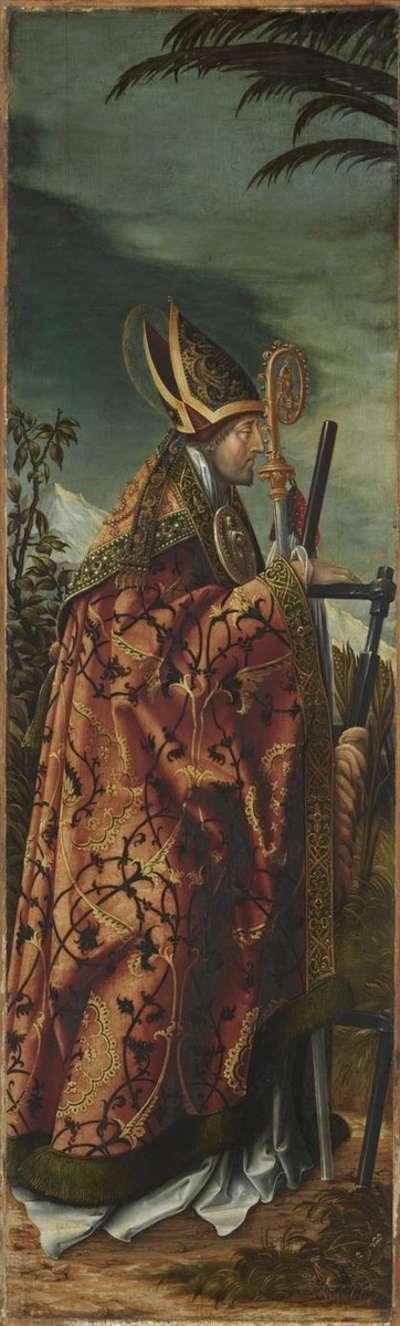 Johannesaltar, linker Flügel: Hl. Erasmus
