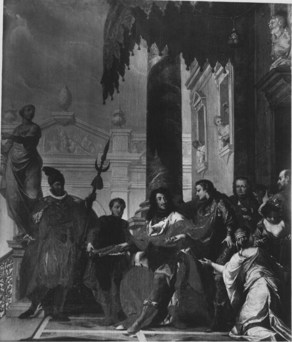Kurfürst Johann Wilhelm übergibt den Kommandostab