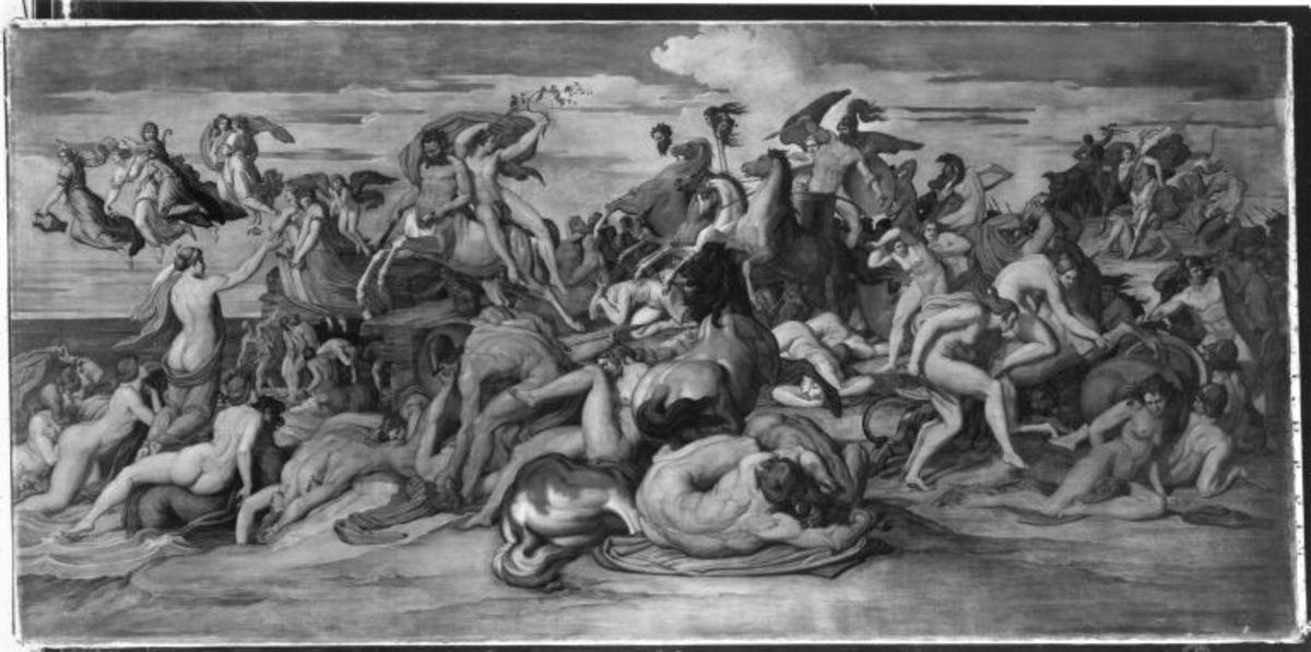 Bacchus flieht vor Lykurg