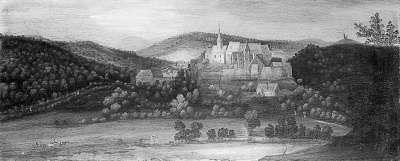 Ansicht von Schloss Naumburg bei Kirn
