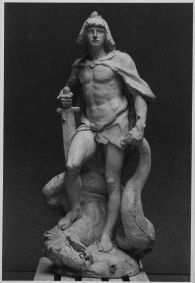 Originalmodell für den Siegfried des Siegfried-Brunnens in Worms