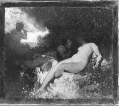 Faun und Nymphe