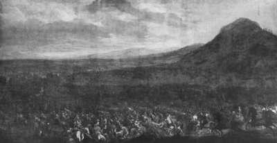 Die Niederlage der Türken bei Mohacs und dem Berg Harsan in Ungarn am 12. August 1687